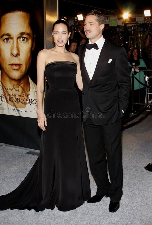 Brad Pitt en Angelina Jolie royalty-vrije stock afbeelding