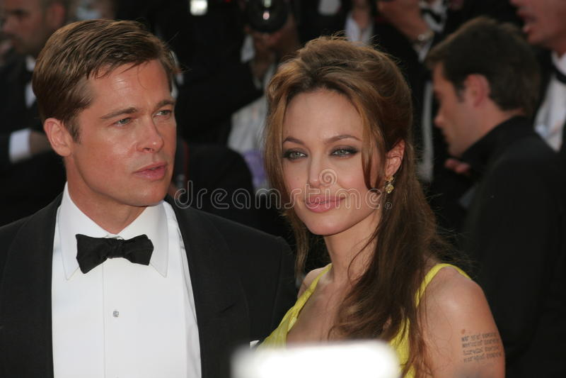 Brad Pitt et Angelina Jolie photographie stock libre de droits