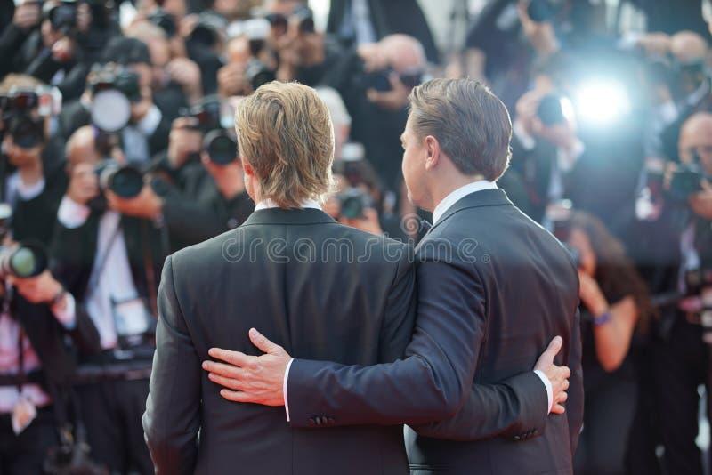 Brad Pitt et Leonardo DiCaprio image libre de droits