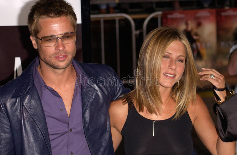Brad Pitt, Jennifer Aniston photo stock