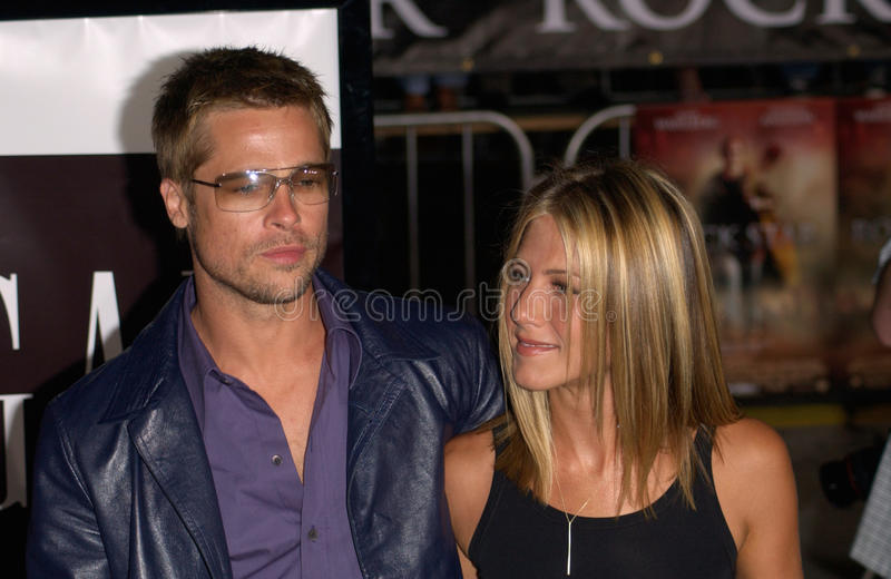 Brad Pitt, Jennifer Aniston royalty-vrije stock foto's