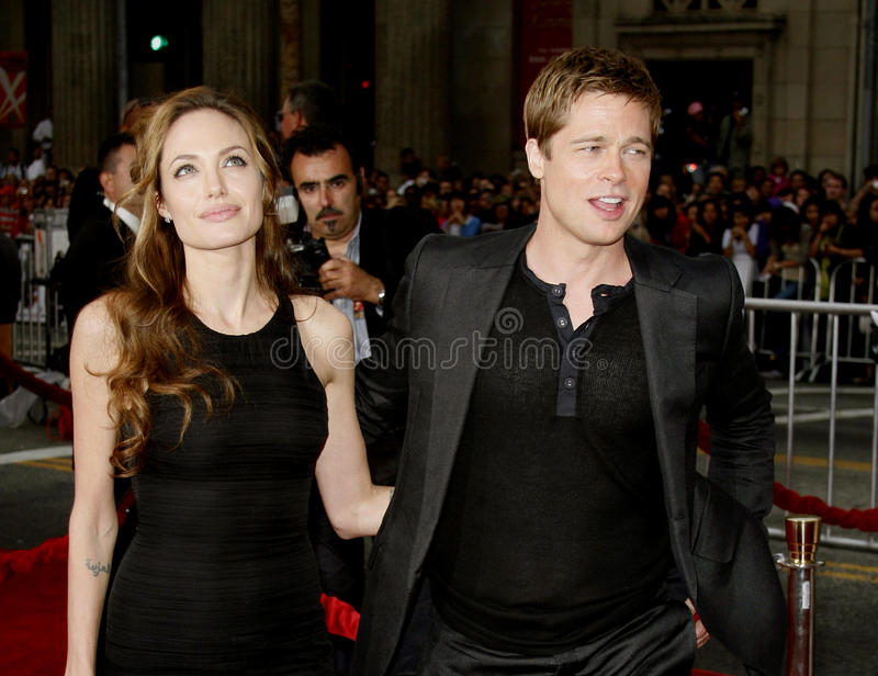 Brad Pitt und Angelina Jolie lizenzfreie stockfotografie
