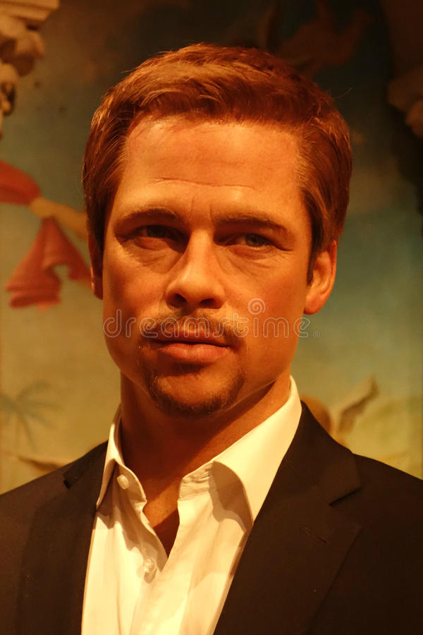 Brad Pitt Wax Figure royalty free stock images