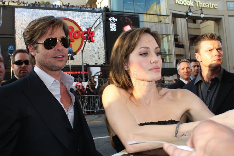 Brad Pitt y Angelina Jolie imagen de archivo