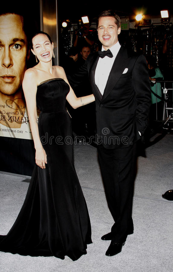 Brad Pitt y Angelina Jolie fotos de archivo