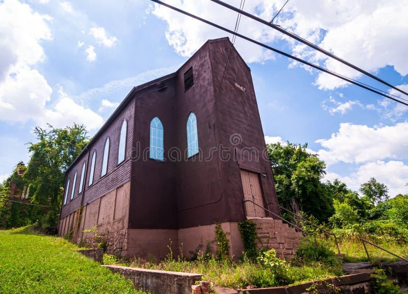 Braddock, Pennsylvanie, Etats-Unis 6/29/2019 d'une ancienne synagogue juive remontant aux 1800s en retard photographie stock