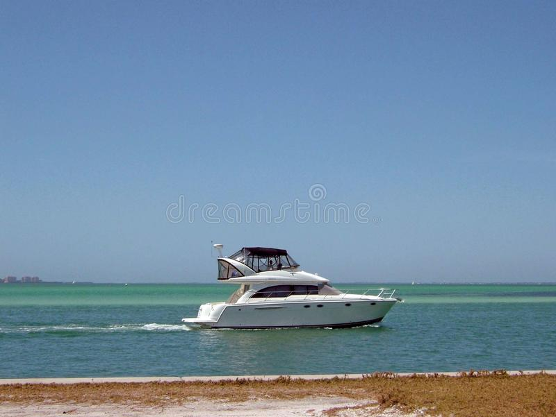 Bradenton  Beach under a bright blue sunny sky royalty free stock images
