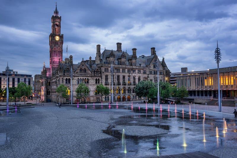 Bradford City Hall imagen de archivo libre de regalías