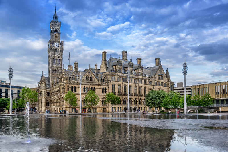 Download Bradford City Hall stock image. Image of yorkshire, town - 93782511