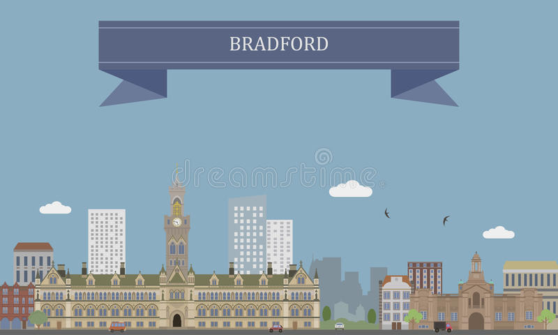 Bradford, Engeland royalty-vrije illustratie