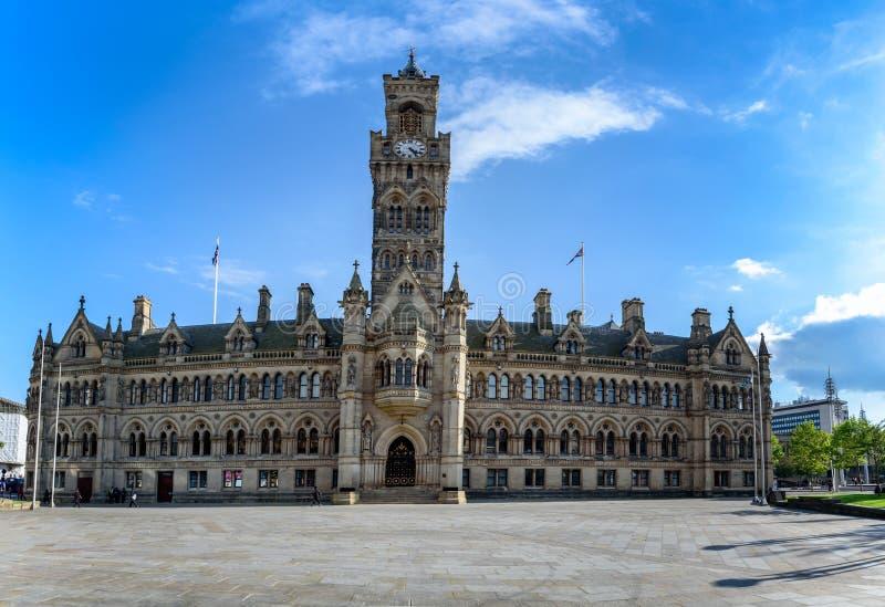 Bradford urząd miasta Anglia obrazy royalty free