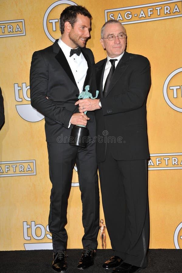 Bradley Cooper et Robert De Niro photo stock