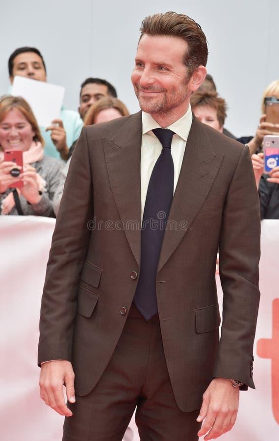Bradley Cooper op het rode tapijt voor ` een Ster is Geboren `-première tijdens TIFF2018 royalty-vrije stock foto's