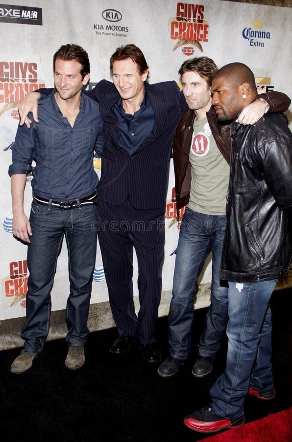 Bradley Cooper, Sharlto Copley, Liam Neeson και Quinton Τζάκσον στοκ φωτογραφίες