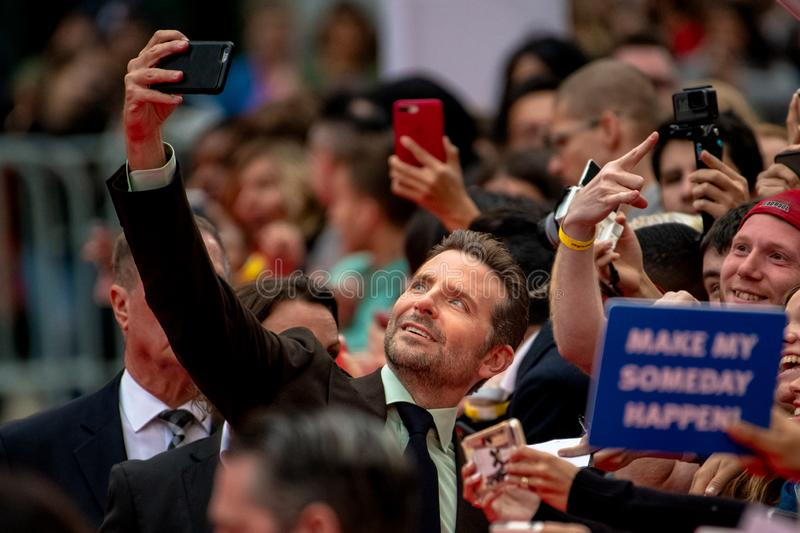 TIFF 2018, Toronto International Film Festival. Bradley Cooper. The Toronto International Film Festival is one of the most important in the world. Bradley Cooper royalty free stock photo