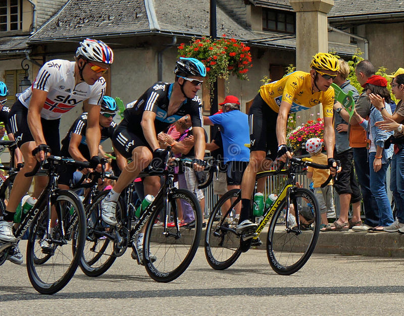 Bradley Wiggins - Tour de France 2012 fotografia de stock