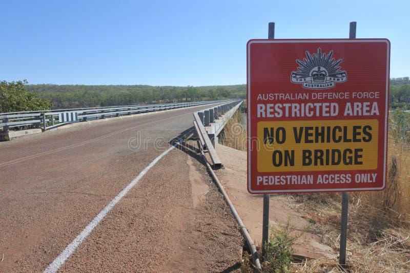 Bradshaw Bridge crossing Victoria River, Timber Creek, Northern Territory Australia stock photos