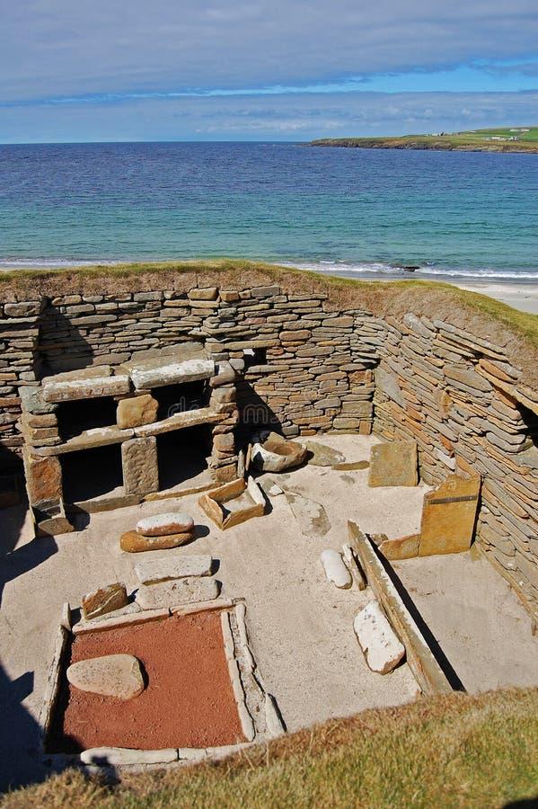 Brae de Skara dans Orkney images libres de droits