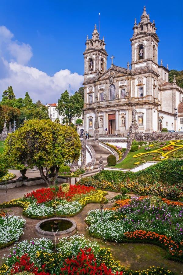 Braga, Πορτογαλία Βασιλική Bom Ιησούς do Monte Sanctuary στοκ φωτογραφία με δικαίωμα ελεύθερης χρήσης