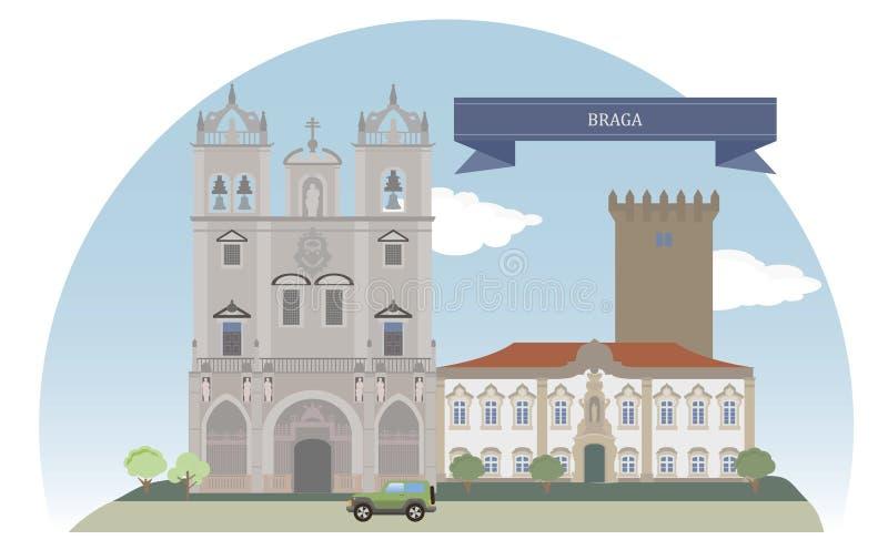 Braga, Πορτογαλία ελεύθερη απεικόνιση δικαιώματος