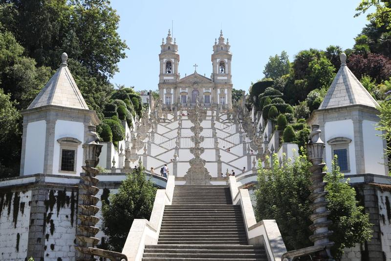 Braga. Curch portugal stock photo