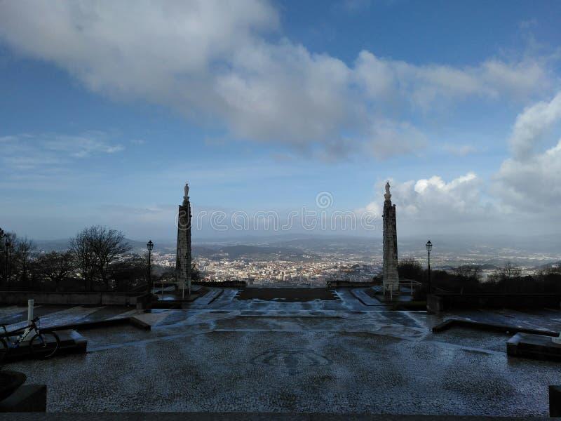 Braga depuis le sanctuaire de Sameiro photos stock