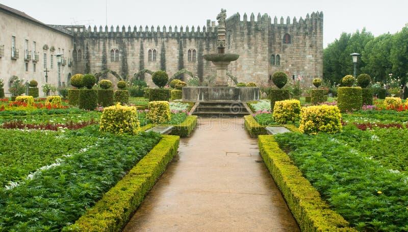 Braga Garden. Gardens of Santa Barbara in Braga, Portugal royalty free stock photos