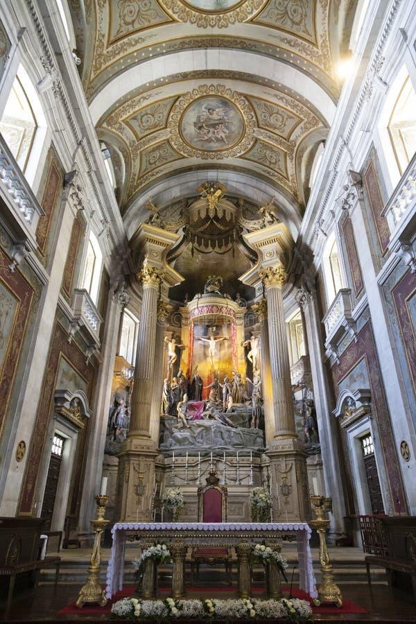 Braga-Kathedrale im Norden von Portugal stockfoto