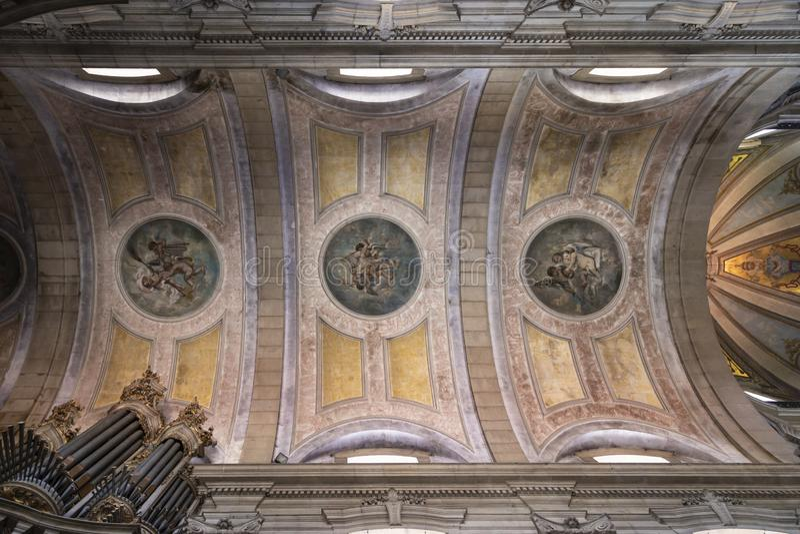 Braga-Kathedrale im Norden von Portugal stockfotos