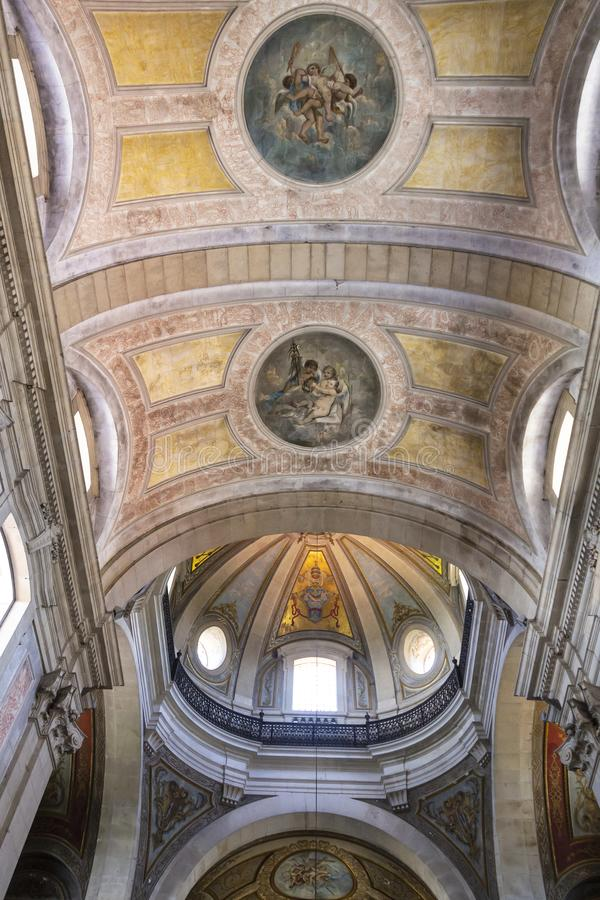 Braga-Kathedrale im Norden von Portugal lizenzfreies stockfoto