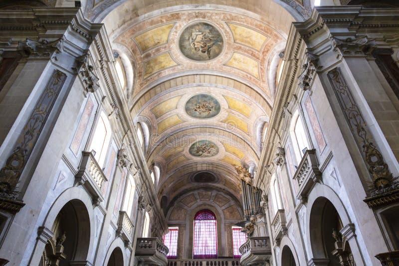Braga-Kathedrale im Norden von Portugal lizenzfreie stockbilder