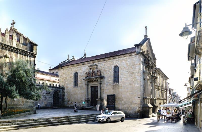 Braga Portugal Augusti 14, 2017: Sidan av kyrkan kallade de l royaltyfria bilder