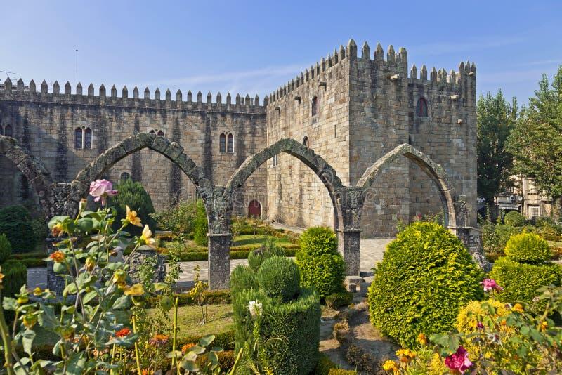 Braga Portugal barbara trädgårds- santa royaltyfria bilder