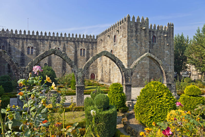 Braga, Portugal Kerstman Barbara Garden royalty-vrije stock afbeeldingen