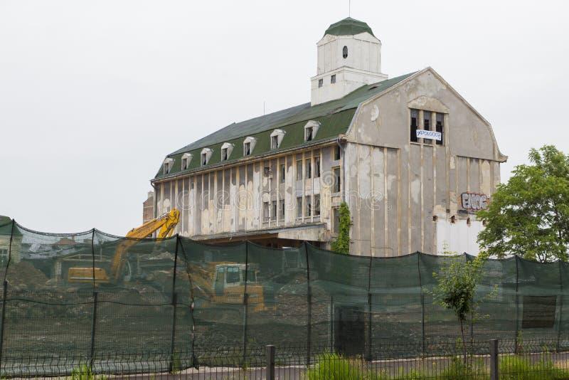 Bragadiru beer factory. Old Bragadiru beer factory is demolished to construct a Kaufland hypermarket royalty free stock images