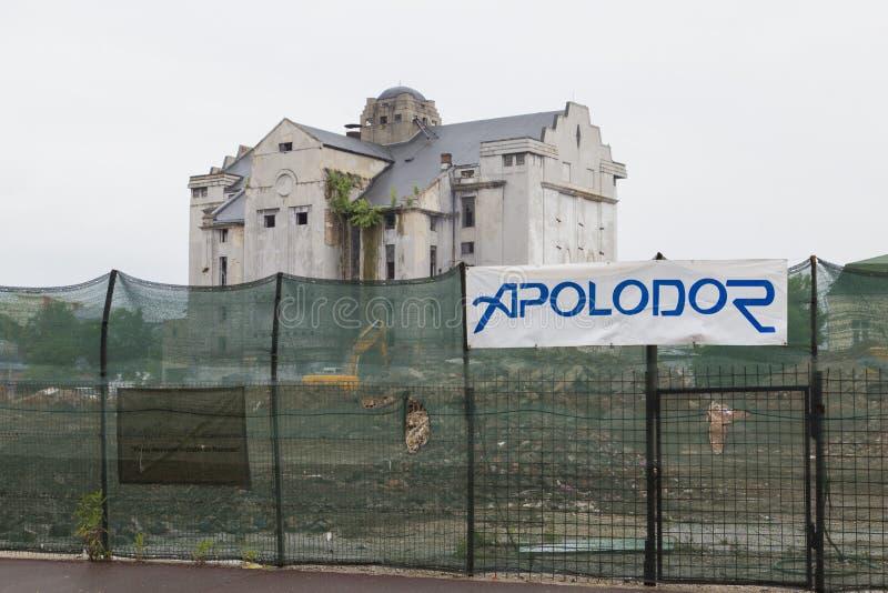 Bragadiru beer factory. Old Bragadiru beer factory is demolished to construct a Kaufland hypermarket stock images