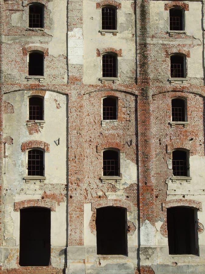 Bragadiru beer factory ruins. Ruins of Bragadiru beer factory in Bucharest, Romania royalty free stock photography