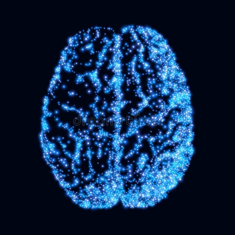 bragg background с архивом brain Нейроны мозга Принципиальная схема thinking Человеческий мозг Знак мозга иллюстрация вектора
