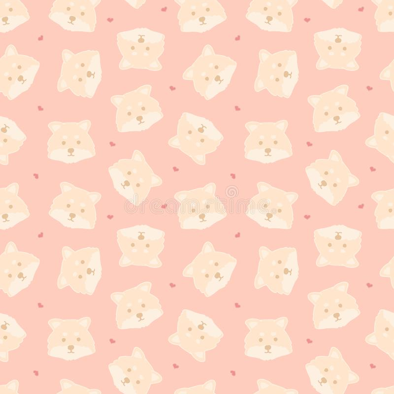 Braght childish seamless pattern with funny creative dogs on pink background. Trendy cartoon animals vector background. Perfect vector illustration
