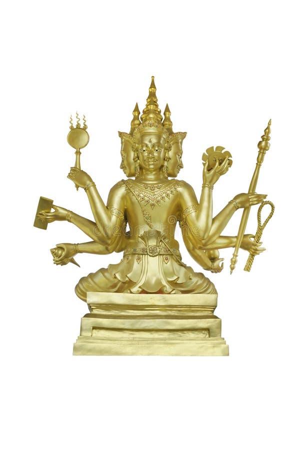 Brahma no santuário hindu foto de stock royalty free