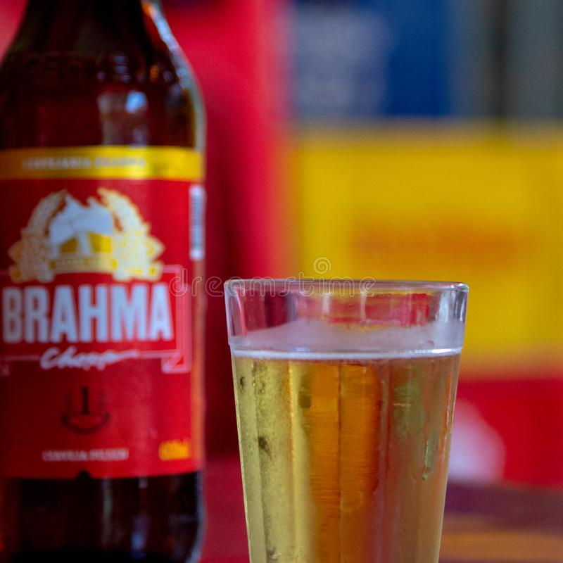 Brahma very cold cropped stock photography