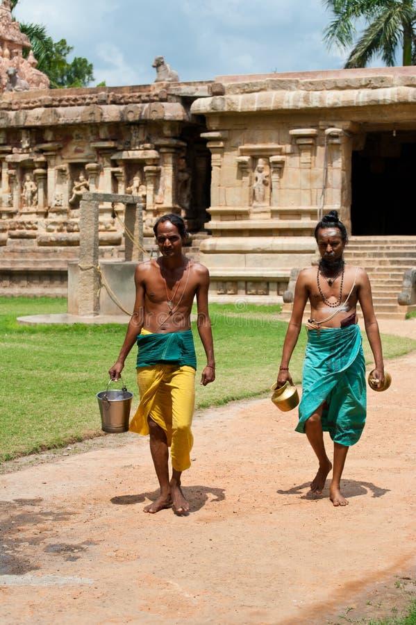 Brahmanes hindúes. India imagen de archivo libre de regalías