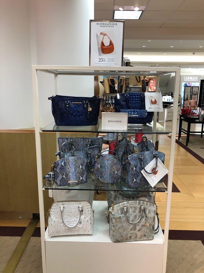 Brahmin Handbags in a Department Store. Arizona brahmin department design dillards display female handbags highend ladys mall scottsdale store royalty free stock images