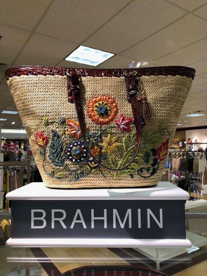 Brahmin Handbags in a Department Store. Arizona brahmin department design dillards display female handbags highend ladys mall scottsdale store royalty free stock photo
