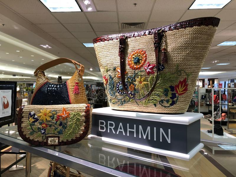 Brahmin Handbags in a Department Store. Brahmin Handbags on display in a department store located in Scottsdale Mall in Scottsdale Arizona stock images