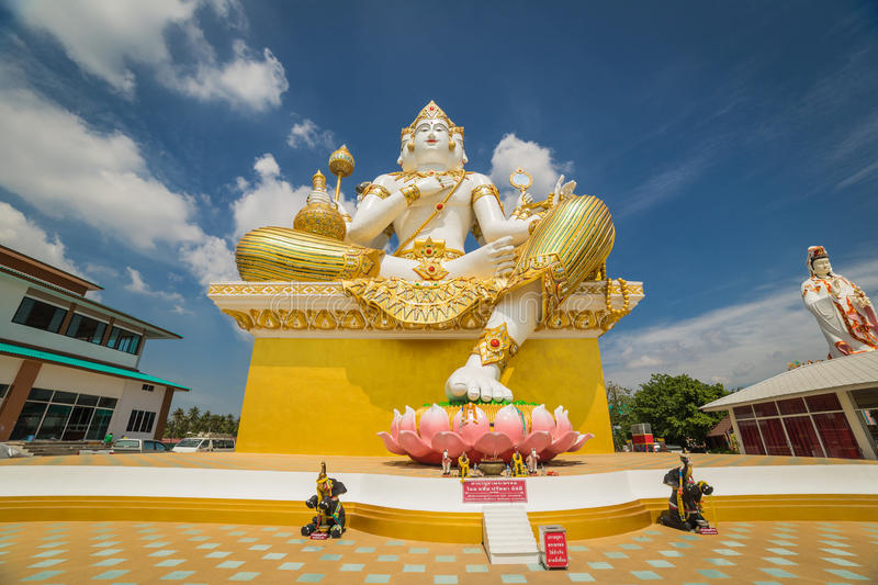 Brahmin statue. In Wat Samarn located in Chachongsao province of Thailand royalty free stock photography