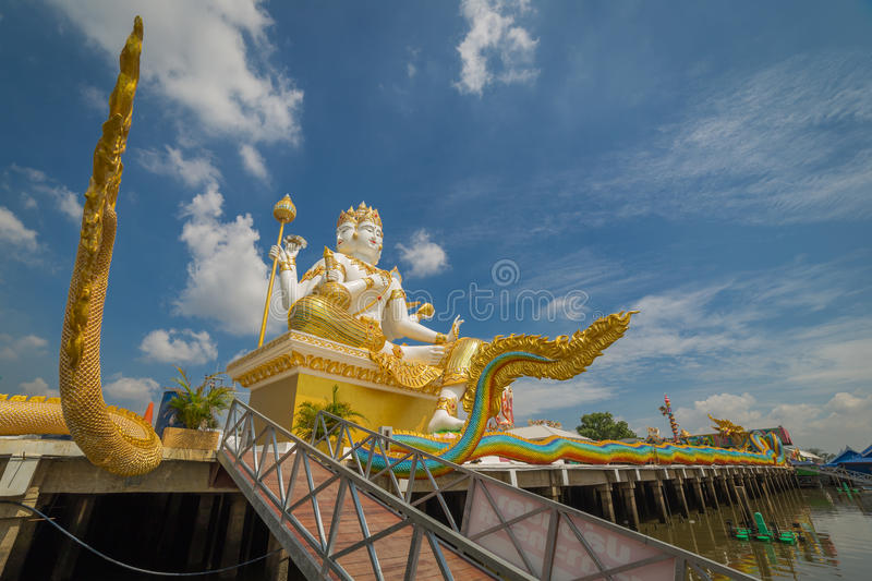 Brahmin statue. In Wat Samarn located in Chachongsao province of Thailand royalty free stock images