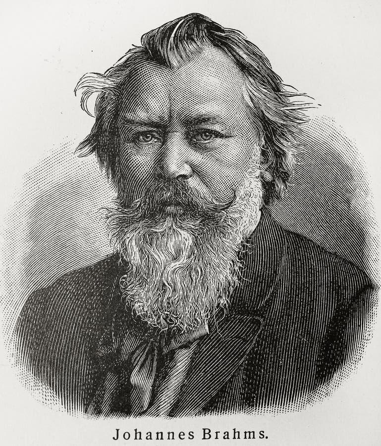 brahms Johannes στοκ φωτογραφία με δικαίωμα ελεύθερης χρήσης