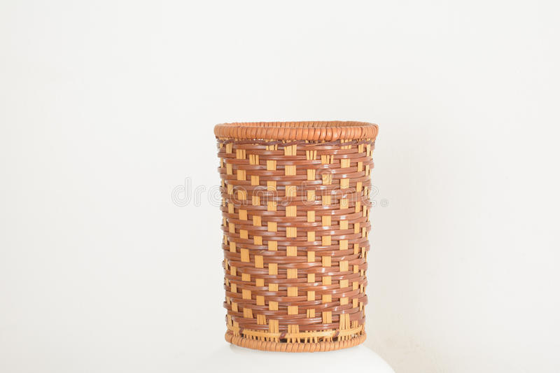 Braided barrel. Preparation barrels crafts,For holding small items of daily use , or viewing royalty free stock image