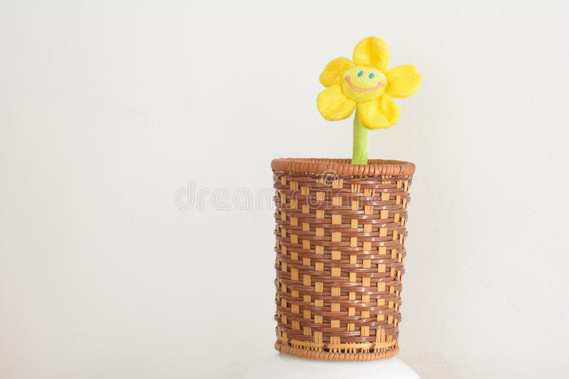 Braided barrel. Preparation barrels crafts,For holding small items of daily use , or viewing stock image